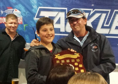 Alex Kershaw received Richo's Memorial Trophy